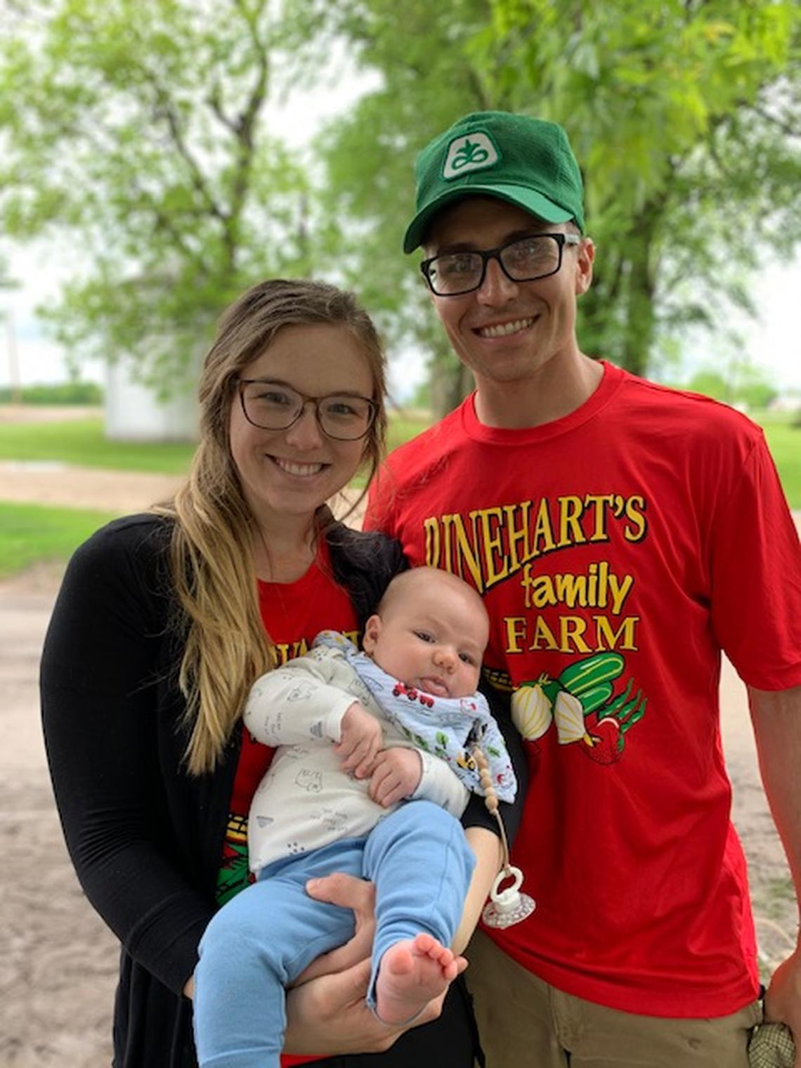 Isaac Bitter with his wife Emily and family. Submitted photo