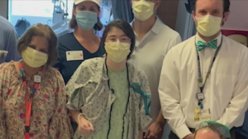 Maggie Giordano (center) and her team of medical professionals.