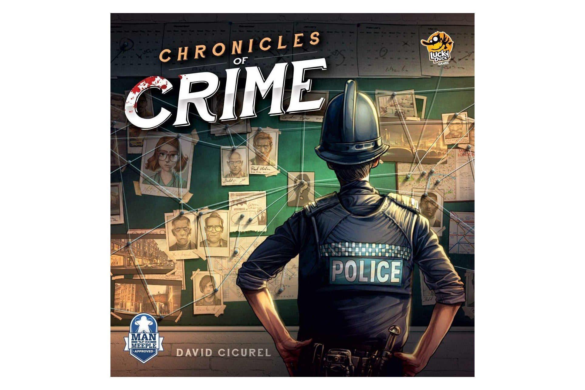 The Chronicles of Crime board game box.